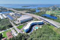 aerial image of the wave condos in saint pete florida