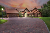 twilight image of luxury home 2