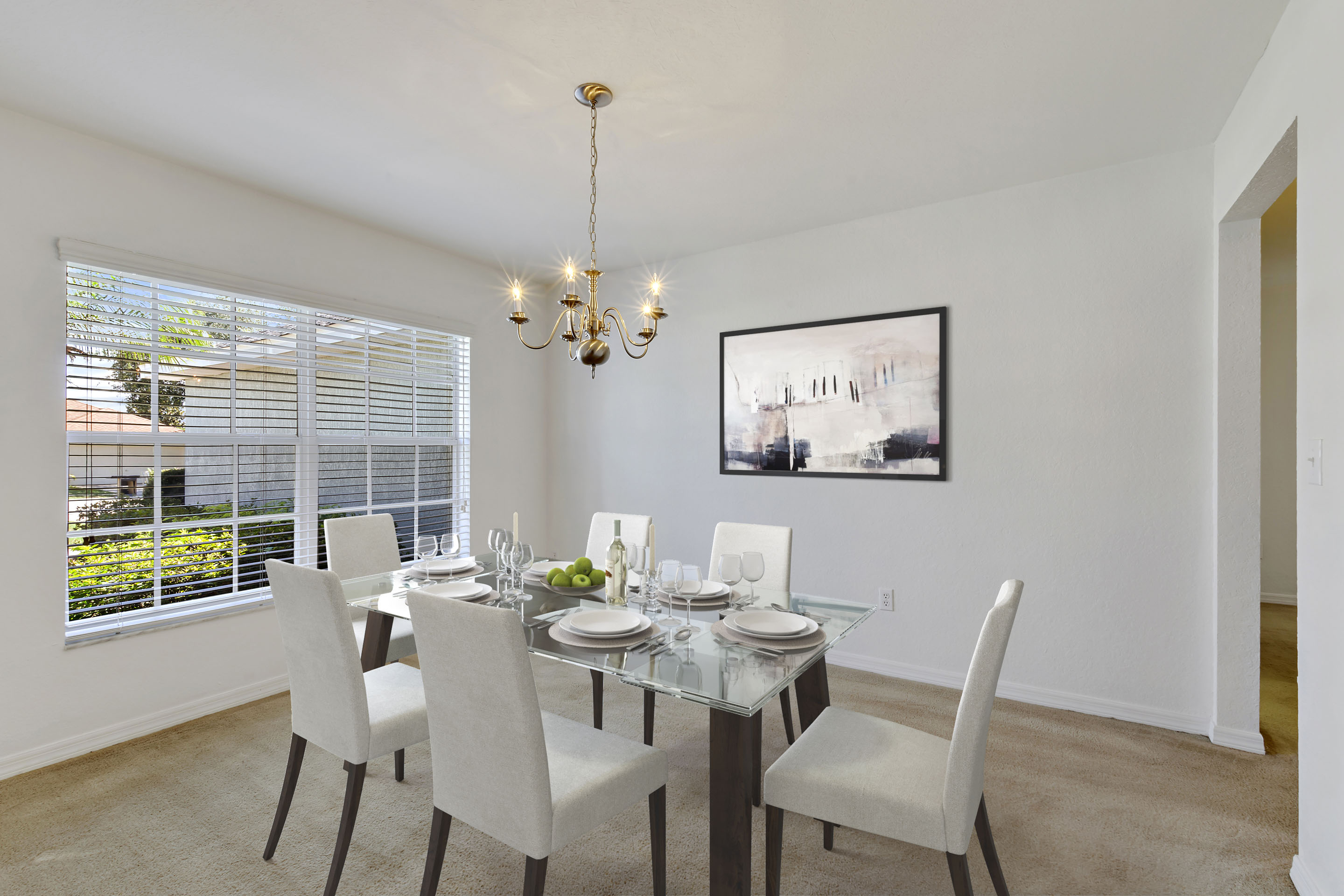 image of virtual staging a dining room