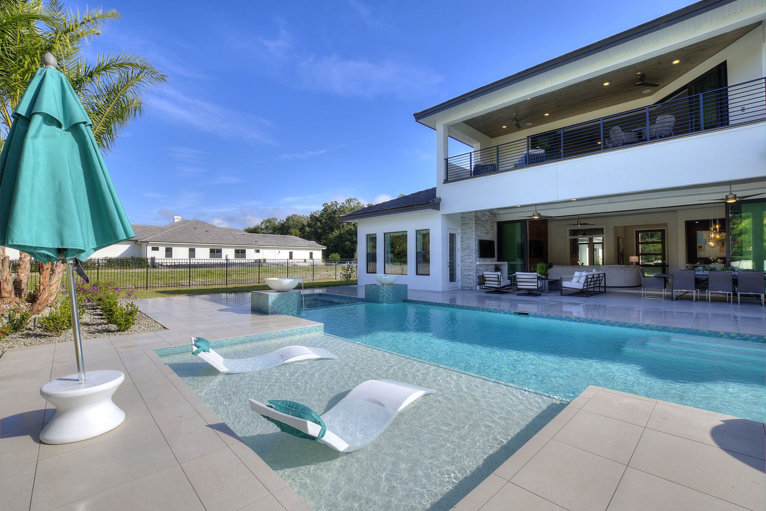 image of pool area of luxury home