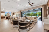 image of living room, kitchen & dining of luxury home