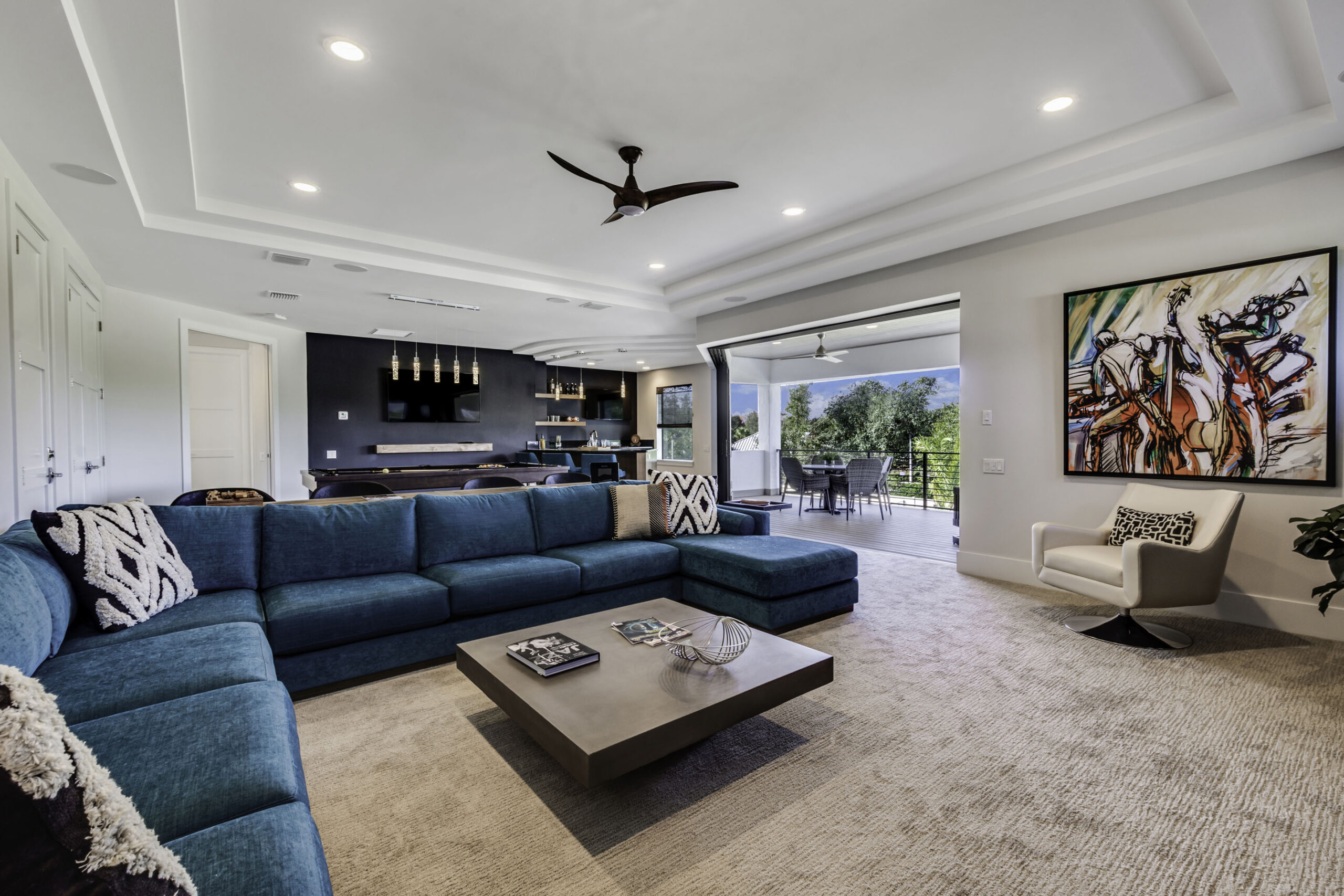 image of game room & bar of luxury home