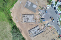 straight down aerial image of home construction