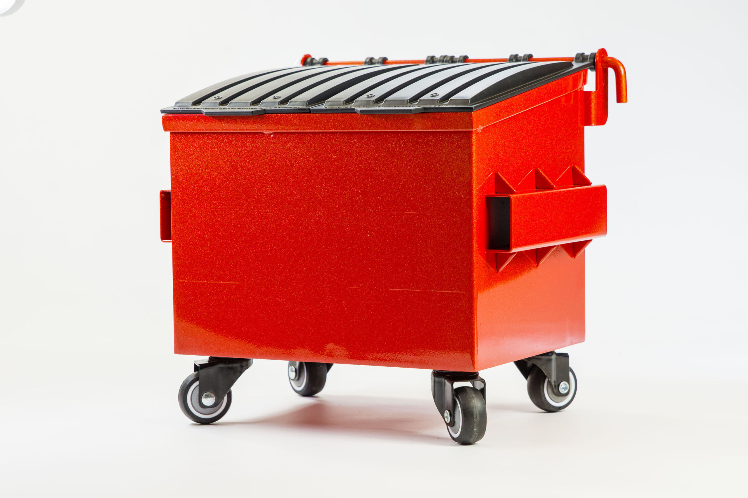 image of a small metal dumpster called dumpsty