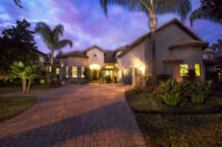twilight image of luxury home 4